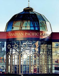 Glass Rotundra that links historic Fairmont Palliser Hotel to vintage train shed in downtown Calgary. Fairmont Palliser, Capital Of Canada, Canadian Pacific Railway, I Am Canadian, Banff, Calgary, Shed, History, Photo Ideas