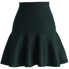 Chicwish Patterned Mini Skater Skirt in Dark Green (125 BRL) ❤ liked on Polyvore featuring skirts, mini skirts, saias, юбки, green, flared skirt, short skirts, green mini skirt, flared skater skirt and circle skirts