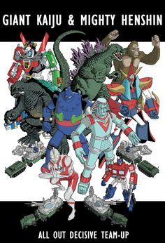 Godzilla Gamera Ultraman etc.. by ~dusty-abell on deviantART