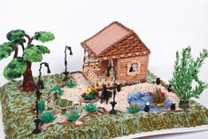 Beautiful 3D quilled house