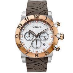 Ρολόι Vogue Allure Chrono Brown Rubber Strap Michael Kors Watch, Chronograph, Rolex Watches, Bracelet Watch, Brown Leather, Vogue, Bracelets, Accessories, Game