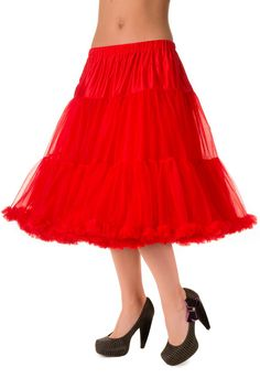 "Plus size Rockabilly Swing Dance Bridal Underskirt Super Soft Petticoat Red 26"""
