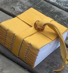 Yellow Leather Journal by MyHandboundBooks, via Flickr