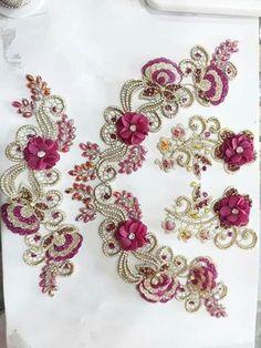 bijou APPLIQUE FLEUR VOILE ORGANZA et PERLE 5 cm fait Main Couture barrette
