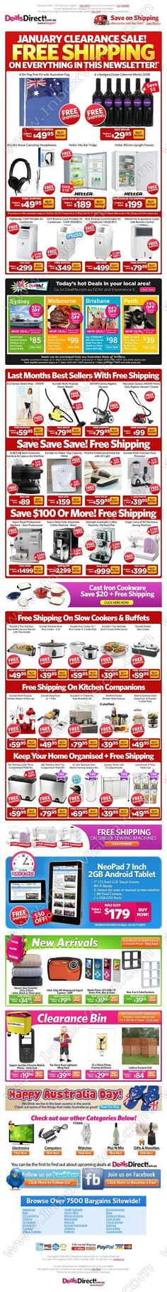 Company:  DealsDirect     Subject:  Happy Australia Day - Free Shipping on All Home Appliances in Newsletter!               INBOXVISION providing email design ideas and email marketing intelligence.     http://www.inboxvision.com/blog  #EmailMarketing #DigitalMarketing #EmailDesign #EmailTemplate #InboxVision #Emailideas #NewsletterIdeas