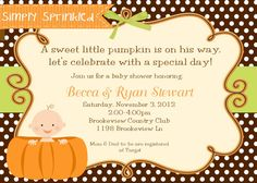 186 best my lil pumpkin baby shower ideas images on pinterest baby lil pumpkin baby shower invitation v2 diy by simplysprinkled 1300 filmwisefo