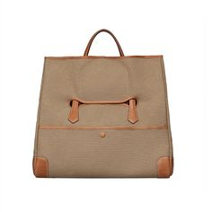 Brown Canvas Tote Bag - S/S 2014