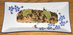 Gegrilde Zalm, een gerecht uit Argentinië bereid door de Happy Chief Cook.