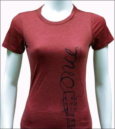 Once the Musical - Ladies Dark Red Logo T-Shirt $21.95