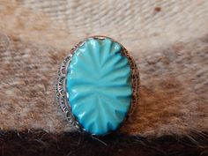 reserved for paul     hand carved turquoise rare  Native American ring stunning southwest jewelry quarter horse elegant jewelry by LittleCherokeeValley on Etsy