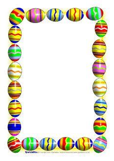 Printable Easter egg border. Free GIF, JPG, PDF, and PNG downloads ...
