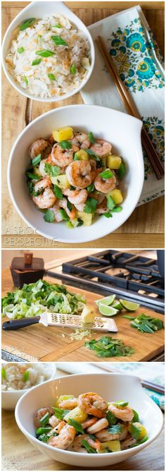 Chinese Five Spice Shrimp with Coconut Rice