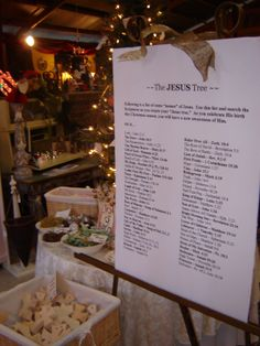 The JESUS Tree - list of scripture with names of Jesus for Jesus tree