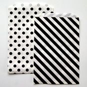 stripes and dots paper bags