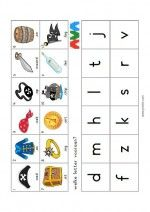 Mini Loco Piraten - eerste letter Mini, Activities, Arch, Note Cards, Dyslexia, Shadows