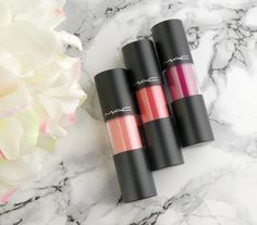 MAC Cosmetics Versicolour Lip Stains in Energy Shot, Tattoo My Heart and Preserving Passion http://swatchandreview.com/mac-cosmetics-versicolour-lip-stains-in-energy-shot-tattoo-my-heart-and-preserving-passion/
