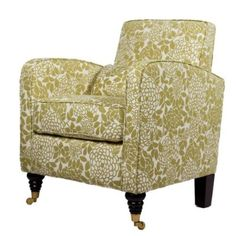 I'd probably change the wheels at the front but otherwise the upholstery is fabulous! angelo:HOME Grant Chair with Lotus-Green Floral Upholstery