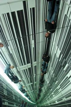 Luc Peire, Environment III by Luc Peire (if you are inclined to vertigo--bypass this installation as the mirrors create a feeling of being at the top of a great height) - (sparkling adventures)