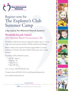 Find out more about our camp in Cinnaminson, NJ at http://nbnautismprogram.com/summer_camp.php