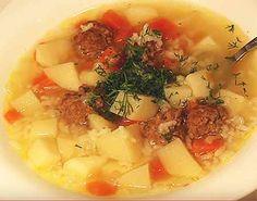 Фото-рецепт супа с фрикадельками в мультиварке