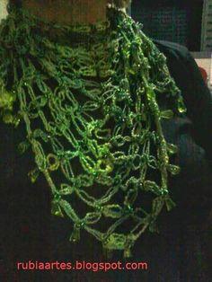 Rubia Artes e Artesanatos: Lenços de Crochê Ponto Segredo