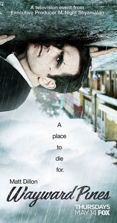 With Hope Davis, Shannyn Sossamon, Tom Stevens, Charlie Tahan. A Secret Service agent goes to Wayward Pines, Idaho, in search of two federal agents who have gone missing in the bucolic town. He soon learns that he may never get out of Wayward Pines alive.