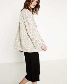 Image 3 of BOMBER STYLE COAT from Zara