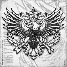 Bull Tattoos, Eagle Tattoos, Body Art Tattoos, Tattoo Drawings, Wing Tattoos, Animal Tattoos, Chest Piece Tattoos, Chest Tattoo, Tattoo No Peito