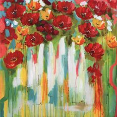 Poppies Glowing Fine-Art Print by Amanda J. Brooks at UrbanLoftArt.com