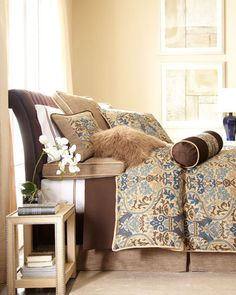 .repeat the print in the pillows.  Love it.