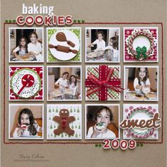 Cookies for Sale Scrapbook Page Kit