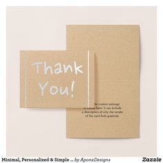"""Shop Minimal, Personalized & Simple """"Thank You!"""" Card created by AponxDesigns. Personalize it with photos & text or purchase as is! Groomsmen Invitation, Groomsmen Proposal, Thank You Greeting Cards, Paper Envelopes, Simple Gifts, Colored Paper, White Elephant Gifts, Maid Of Honor, Customized Gifts"""