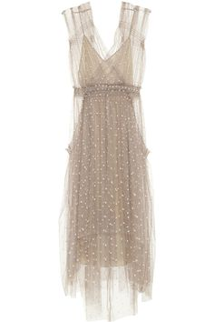 LELA ROSE Polka-dot tulle dress
