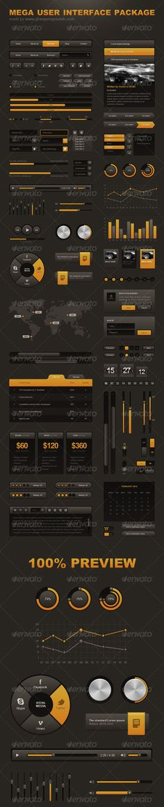 Mega User Interface Package - #User #Interfaces Web Elements Download here: https://graphicriver.net/item/mega-user-interface-package/1585659?ref=alena994