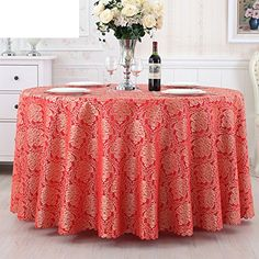 GXX Hotel tablecloth/ Hotel wedding table cloth/ oblong tablecloth/Banquet Restaurant club big round table tablecloth-C diameter280cm(110inch)