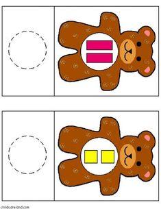 cheznounoucricri - Page 47 Beginning Of Kindergarten, Teaching Kindergarten, Preschool Learning, Teaching Kids, Woodland Animals Theme, Printable Shapes, Teaching Shapes, Bear Theme, Color Games