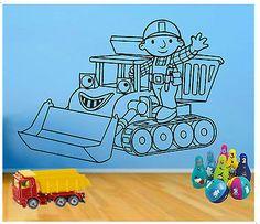 Beautiful Wall Art #stickers #decals / Children`s Bedroom / Bob The #builder
