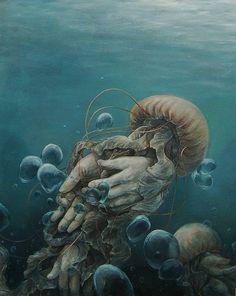 Surreal Illustrations by Hannah Yata http://www.cruzine.com/2013/10/14/surreal-illustrations-hannah-yata/