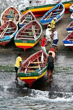 Fishing boats in Santo Antao (Ponta do Sol) - Cape Verde