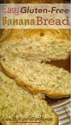Easy Gluten-Free Banana Bread Recipe - MyNaturalFamily.com #glutenfree #banana #recipe