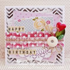 Shabby chic Gorgeous card--made from printed digital scrapbooking goodies!