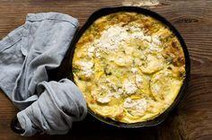 Squash and Green Chile casserole ~ via Homesick Texan