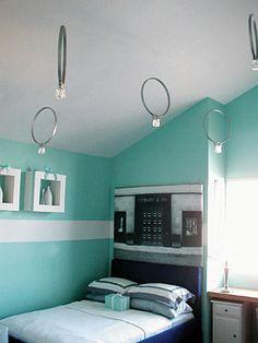 Teen Tiffany U0026 Co. Inspired Room, Teen Bedroom , Girls Rooms Design |  Sabrina | Pinterest | Teen Bedroom Colors, Headboard Lights And Girls