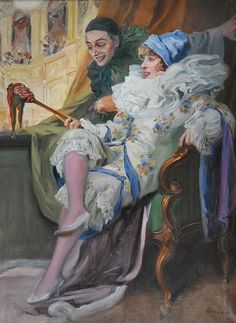 Colombina and Pierrot  by Richard Geiger