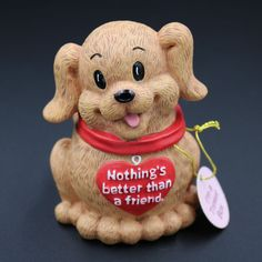 Trinket Jewelry Box Nothing's better than a Friend Puppy Dog Heart