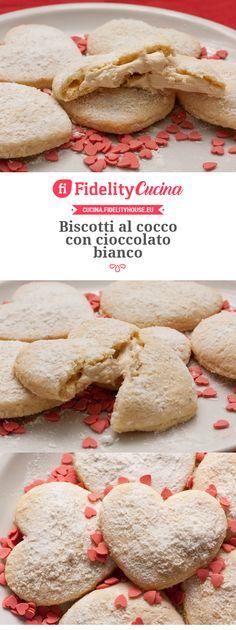 Biscotti al cocco con cioccolato bianco