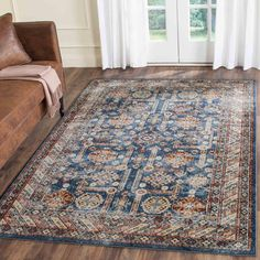 """BIJ653B Rug from Bijar collection. The fine artistry and craftsmanship of Kurdish rug makers is recreated in the Bijar Collection, also known as """"the iron rugs of Persia."""" Traditionally styl"""
