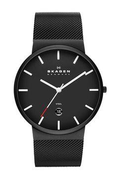 Can I pretty pleeasssseeee have this?! Skagen Round Mesh Strap Watch, 39mm. | Nordstrom