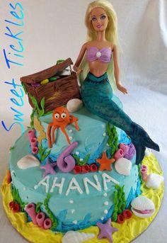 Mermaid theme cake!