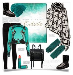 """""""Baby, It's Cold Outside"""" by helenaymangual ❤ liked on Polyvore featuring Oliver Gal Artist Co., Portolano, Gucci, River Island, UGG, McQ by Alexander McQueen, Lipstick Queen, Coal and Lands' End"""
